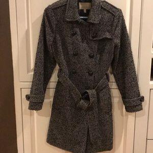 Women's Banana Republic tweed coat, size M